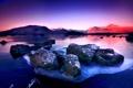 Картинка закат, горы, камни, утро