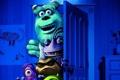Картинка комната, мультфильм, дверь, монстры, Академия монстров, Monsters University, Inc.