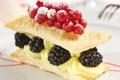 Картинка еда, сладости, торт, пирожное, смородина, ежевика