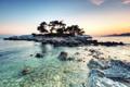 Картинка море, небо, пейзаж, природа, камни, остров, горизонт