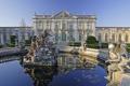 Картинка вода, пруд, вид, статуя, дворец, Queluz, Келуш