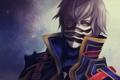 Картинка взгляд, маска, парень, Final Fantasy, art, отчаянье, Robas Arel