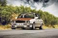 Картинка бмв, BMW, bbs, белая, дорога, E30, stance