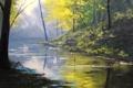 Картинка рисунок, арт, artsaus, forest glow
