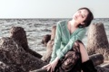 Картинка море, девушка, настроение, Tomomi