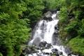 Картинка лето, водопад, молочный, абхазия