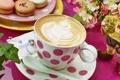 Картинка рисунок, кофе, чашка, пирожные