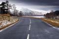 Картинка зима, дорога, пейзаж, горы