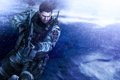 Картинка Resident Evil 6, fanart, Biohazard 6, снег, Chris Redfield, оружие