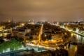Картинка ночь, мост, город, река, Франция, Париж, здания