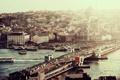 Картинка город, река, речка