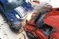 Картинка Burnout, авария, машины, осколки, искры, столкновение, Revenge