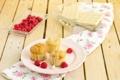 Картинка плитки, шоколад, еда, малина, ягоды, кексы, белый