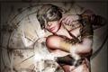 Картинка девушка, дым, руки, арт, повязка