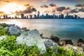 Картинка облака, Майами, трава, небо, vice city, Флорида, Miami