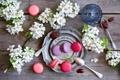 Картинка цветы, печенье, flowers, варенье, jam, cookie, macarons