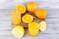 Картинка Стакан, Апельсины, Еда, Напитки, Сок, Лимоны