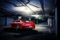 Картинка красный, 911, Porsche, парковка, red, порше, rear