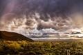 Картинка небо, облака, горы, пустыня, блик