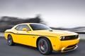 Картинка желтый, скорость, Dodge, SRT8, Challenger, мускул кар, додж
