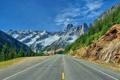 Картинка дорога, горы, Вашингтон, Washington, North Cascades National Park, национальный парк Норт-Каскейдс
