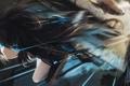 Картинка девушка, мост, оружие, меч, аниме, арт, black rock shooter