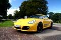 Картинка дорога, желтый, 911, Porsche, Cayman, перед, порше