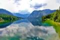 Картинка деревья, пейзаж, горы, река
