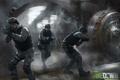 Картинка полиция, солдаты, swat, хранилище, Takedown