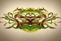 Картинка зелень, клубок, сплетение, трубки, desktopography