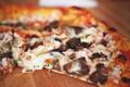 Картинка пицца, грибы, тесто, сыр