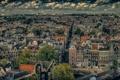 Картинка небо, облака, дома, Амстердам, панорама, Нидерланды, улицы
