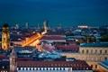 Картинка город, дома, вечер, Европа