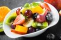 Картинка киви, клубника, виноград, банан, десерт, фруктовый салат