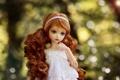 Картинка игрушка, кукла, рыжая, локоны, боке