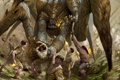 Картинка люди, монстр, паук, ужас, чудовище, Simon Dominic