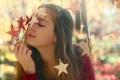 Картинка девушка, настроение, звёзды