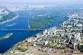 Картинка река, сверху, Украина, Киев, город, дома, фото