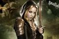 Картинка девушка, дракон, меч, блондинка, заприщенный прием