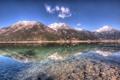 Картинка пейзаж, горы, озеро, отражение, камни, Природа, hdr