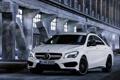 Картинка Авто, Белый, Лого, Капот, Седан, Mercedes Benz, AMG