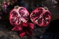 Картинка цветок, фрукт, гранат, амарилис, зернышки