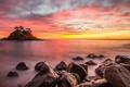 Картинка море, ночь, природа, дерево, остров, sea, nature