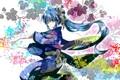 Картинка девушка, marireroy, mariwai, кимоно, Hatsune Miku, арт, Vocaloid