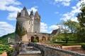 Картинка замок, франция, des, Milandes., Chetau