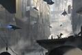 Картинка город, планета, мегаполис, spaceship, sci-fi