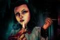 Картинка взгляд, девушка, огонь, пальцы, rapture, сигареты, dlc