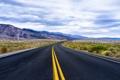Картинка california, road, sky, clouds