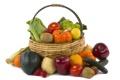 Картинка корзина, овощи, фрукты. ягоды
