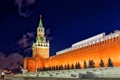 Картинка ночь, огни, стены, звезда, часы, башня, Москва